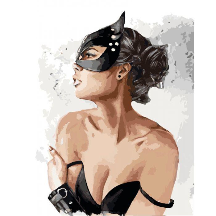 Картина по номерам Игривая кошечка, 40x50 см., Идейка
