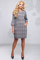 Батальное платье 2809 черно-белая клетка ТМ Seventeen 50-54 размеры