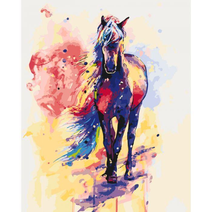 Картина по номерам Роспись на холсте Смелая Айлин КНО2497