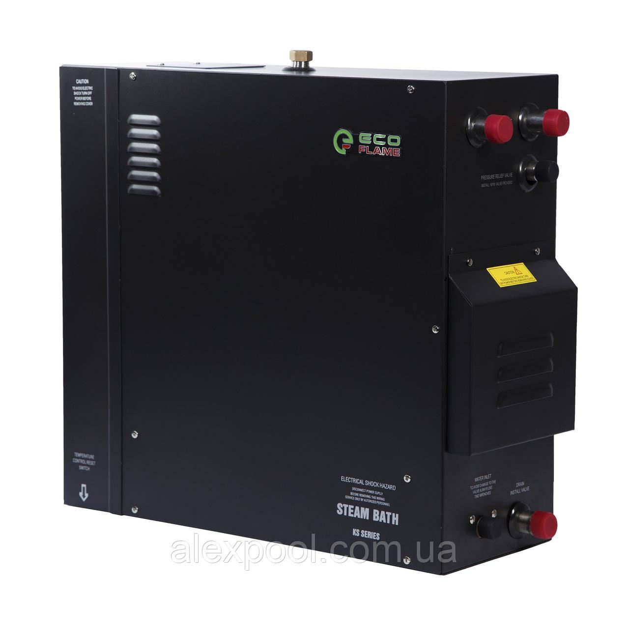 Парогенератор для хаммама EcoFlame KSA225 22,5 кВт, 19 - 26 м, 380 В, пульт, клапан, форсунка в комплекте