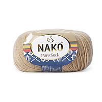 Nako Pure Sock (Нако Пуре Сок) 70% - шерсть супервош, 30% - полиамид 858
