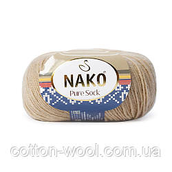 Nako Pure Sock (Нако Пуре Сок) 70% - шерсть супервош, 30% - полиамид 858