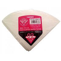 Бумажные белые фильтры для пуровера 02 Hario, 100 шт (Голландия)