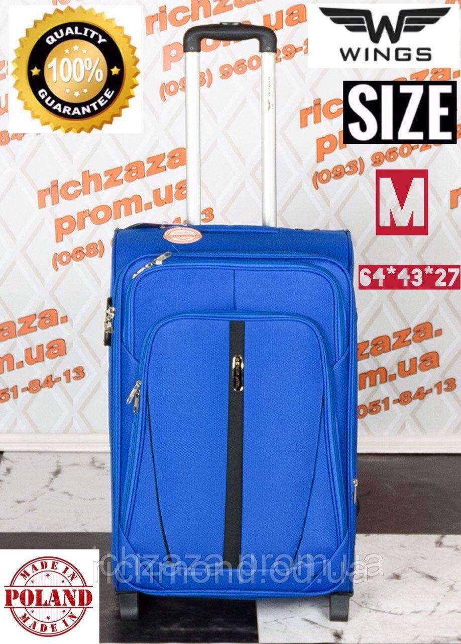 aab337f84a70 Средний удобный голубого цвета дорожный чемодан на 2 калесах фирма Wings  Одесса - RiCHMOND в Одессе