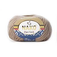 Nako Pure Sock (Нако Пуре Сок) 70% - шерсть супервош, 30% - полиамид 2706