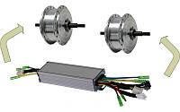 Контроллер на 2 двигателя  KUNTENG KT36ZWSR2-XKL01F LCD 15A 36В до 350Вт, фото 1