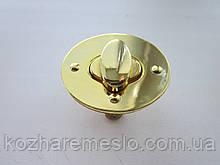 Замок поворотный, для барсетки, кошелька 47 х 37 мм золото