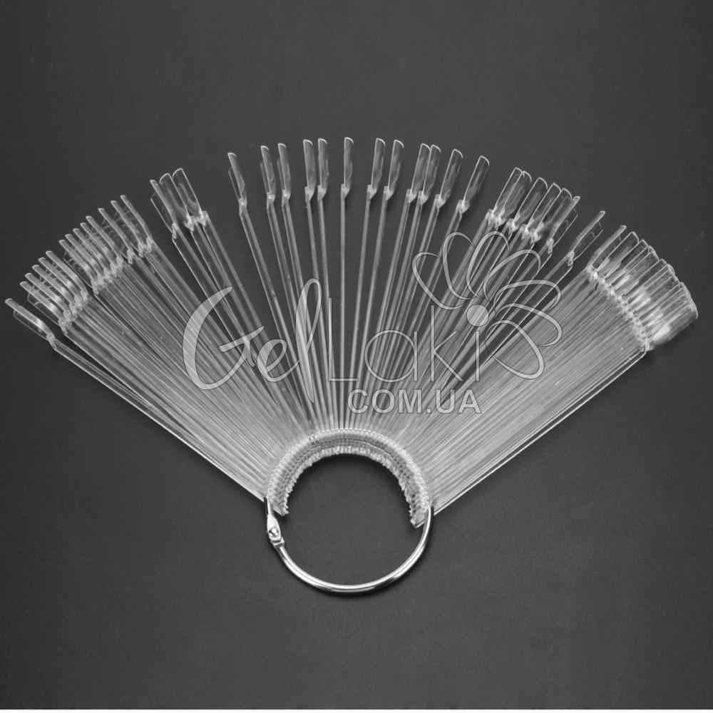 Типсы палитра-веер на кольце 50 шт/упак. (прозрач)