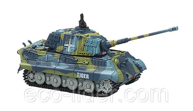 Танк мікро р/в 1:72 King Tiger зі звуком (синій, 40MHz)