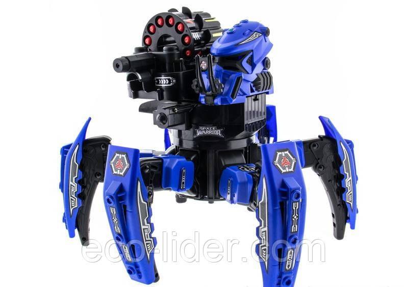 Робот-павук радіокерований Keye Space Warrior з ракетами і лазером (синій)