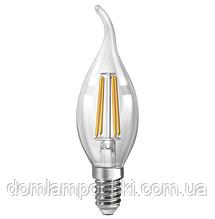 Лампа Светодиодная филаментная  свеча на ветру, диммируемая   NX4СWFD - E14 3000k/4200k