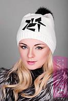 Модная шапка с апликацией 125, фото 1