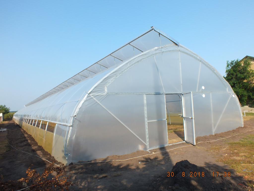 Теплицы фермерские с наддувом и верхним проветриванием