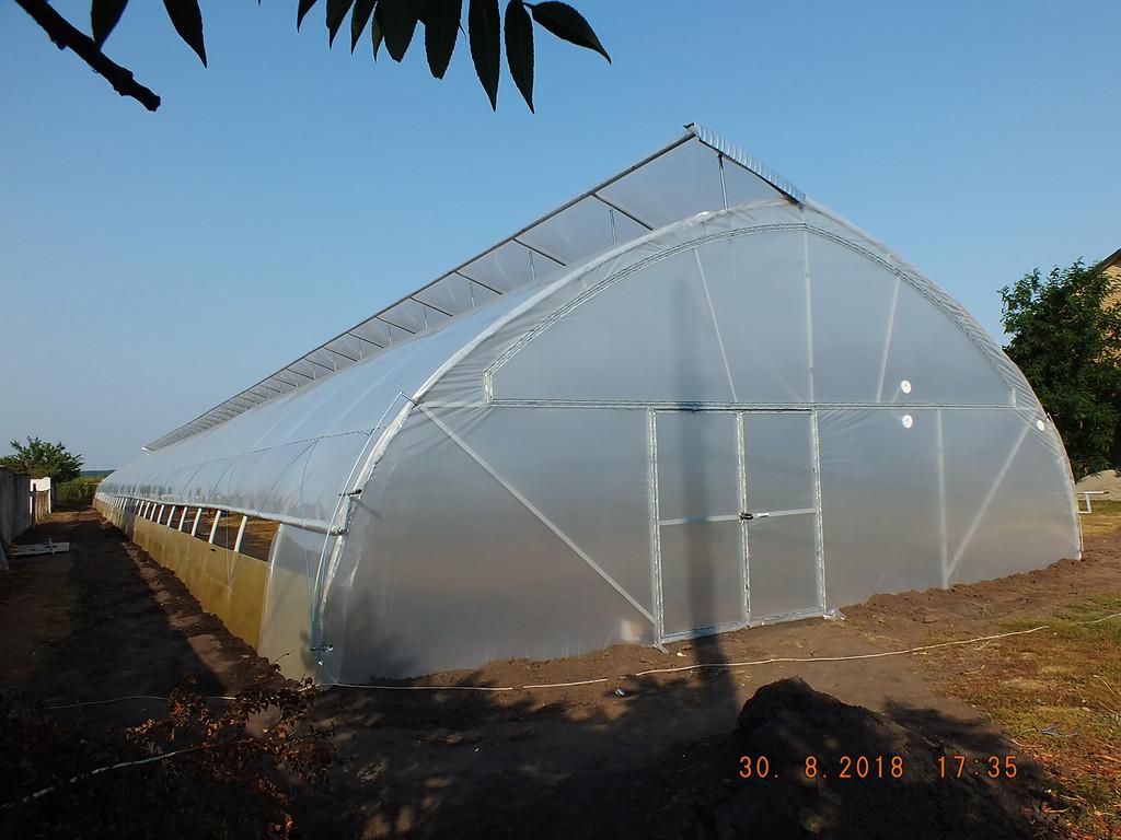 Теплица фермерская с открытым верхним и боковым проветриванием