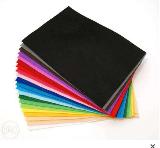 Набір фетру 10 кольорів ( товщина 1мм, формат аркушів 20*30см)