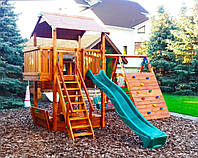 Детская площадка MIDEKO L+ 150с лазом, качелью, лазом Эсто и песочницей-трансформер