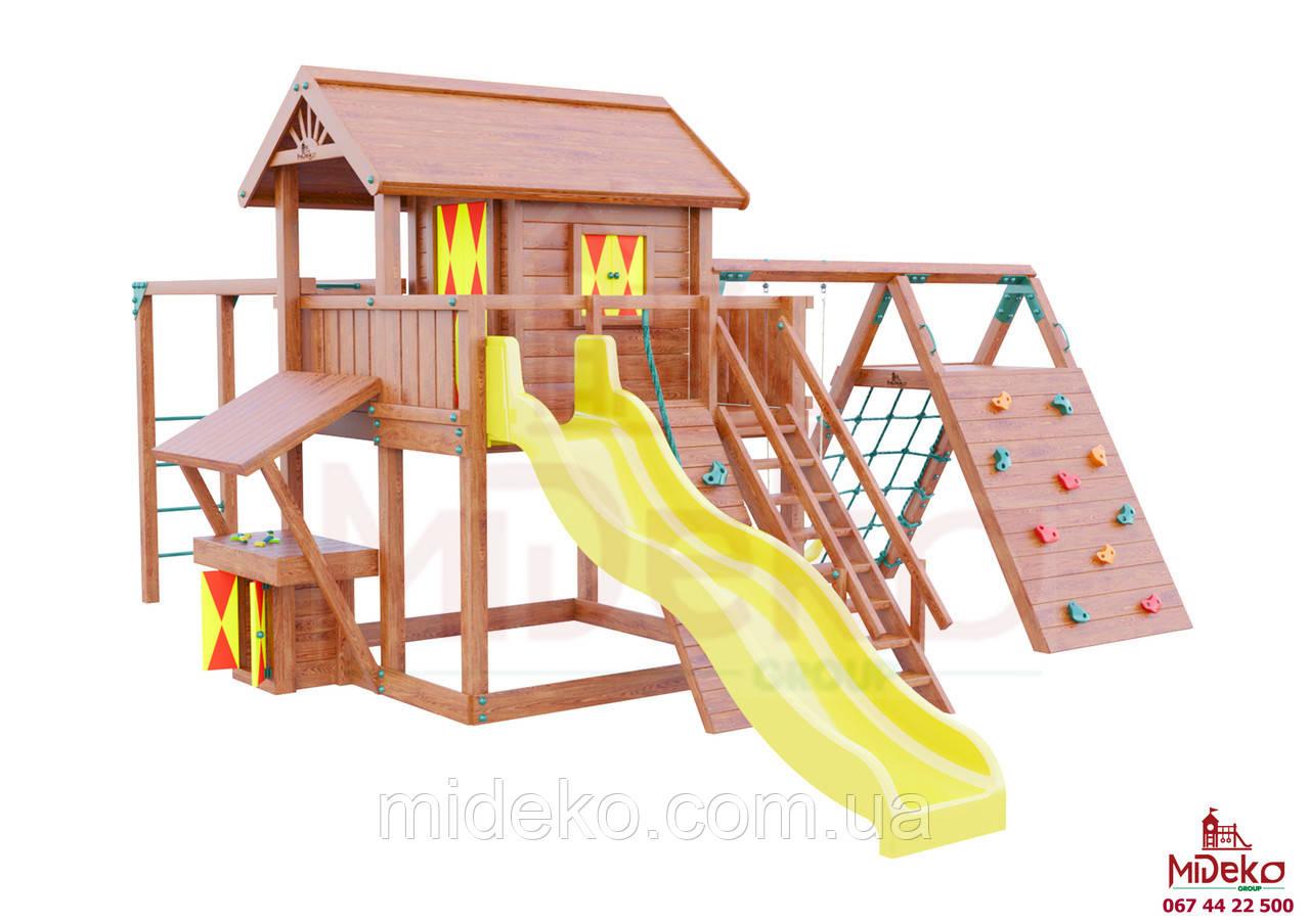 Детская площадка MIDEKO XL 150 с рукоходом, лазом, лазом Эсто, прилавком