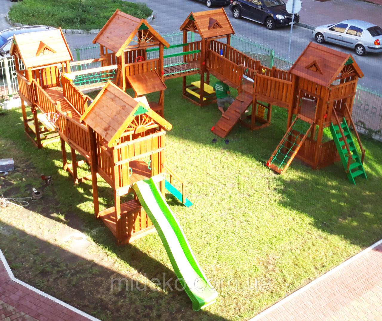 Детская площадка MIDEKO Замок из семи башен с преградами №3
