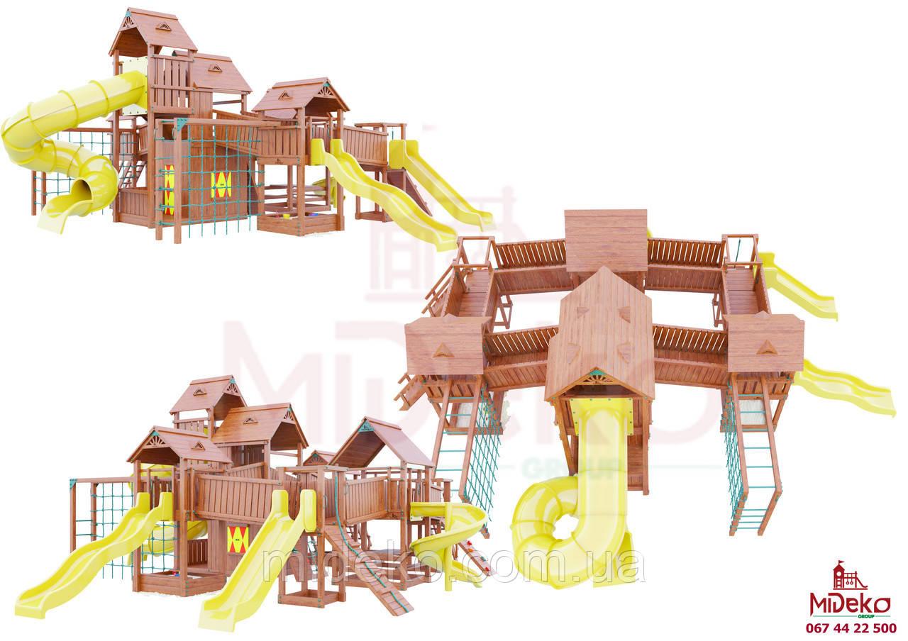 Детская площадка MIDEKO Замок из семи башен с преградами №2