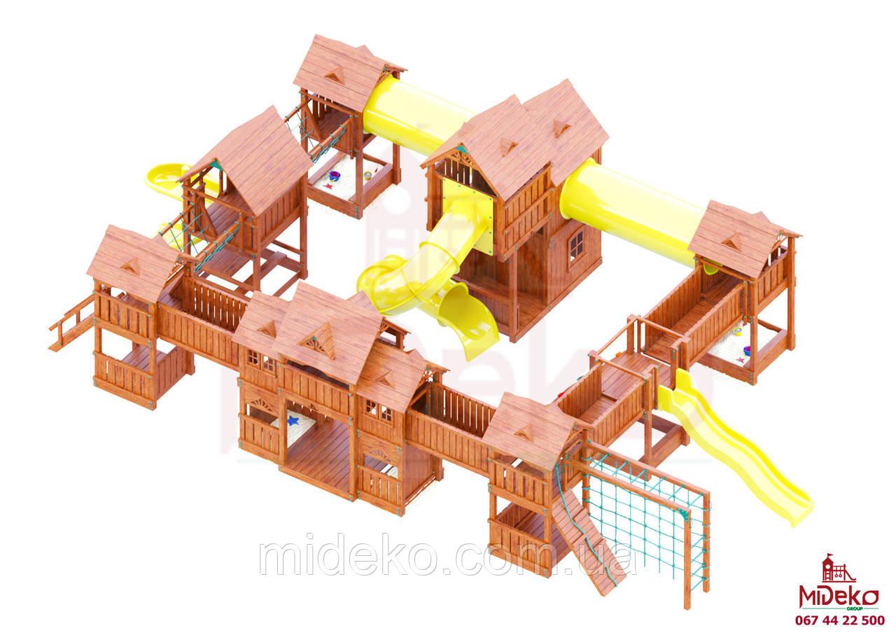 Детская площадка MIDEKO Замок из семи башен с преградами №1