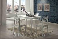 Обеденный комплект Пилар - стол и четыре стула из натурального дерева