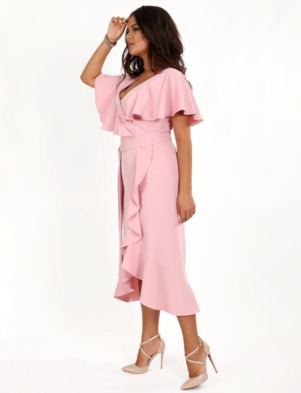 Плаття рожеве вечірнє, фото 3