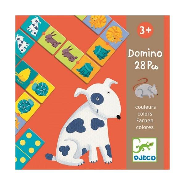 Игра  детское домино Цветные животные Djeco DJ08111