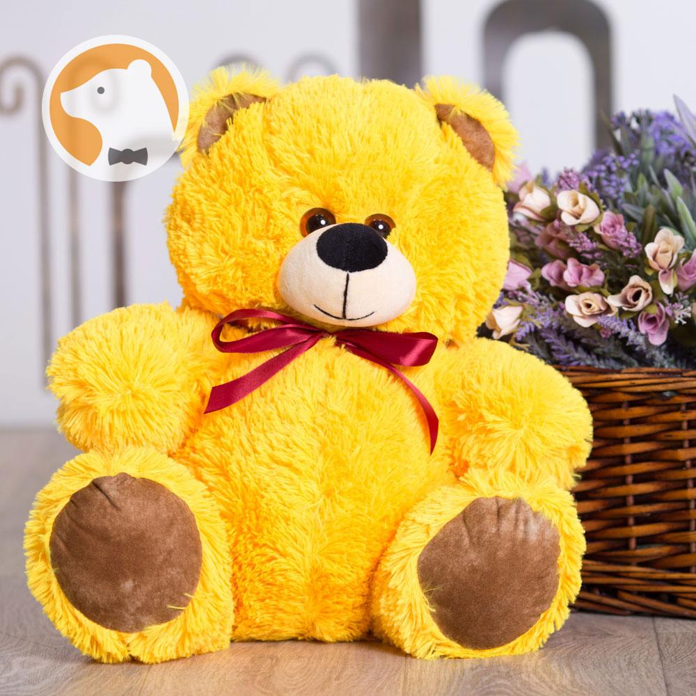 Плюшевый медвежонок Малыш, 60 см, желтый