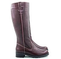 Модные и удобные зимние сапоги бордового цвета размеры 38,39,40
