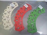 """Накладки для маффинов """"Сани,олени""""№152 6шт(цвет в ассорт.)(код 03529)"""