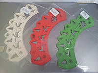 """Накладки для маффинов """"Сани,олени""""№152  6шт(цвет в ассорт.) ,Галетте -03529"""