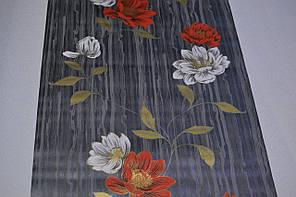Обои на стену,  бумажные, цветы, красный, белый, чорный, Эстель 1383, 0,53*10м, фото 2
