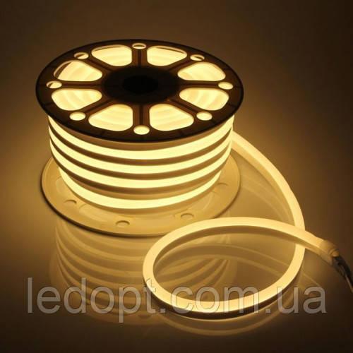 Светодиодная лента Led гибкий неон 12v 8W ip65 WW (Теплый) neon