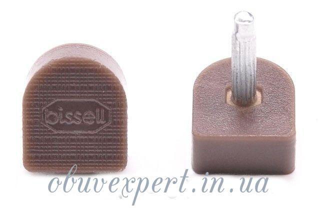 Набойки п/у на штыре BISSELL р.604А (9х10мм, шт 2,9 мм), цв. коричневый