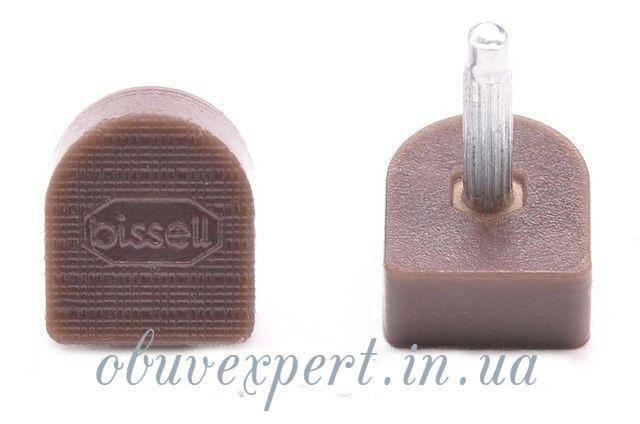 Набойки п/у на штыре BISSELL р.604А (9х10мм, шт 2,9 мм), цв. коричневый, фото 2