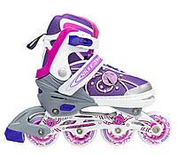 Роликовые коньки Nils Extreme NA1152A Size 31-34 Pink, фото 1
