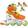 Роликовые коньки Nils Extreme NH18330 4 в 1 Size 31-34 Orange