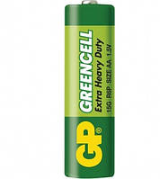 Батарейка солевая GP 15G-S2 Greencell R6 AA пальчиковая (трей)