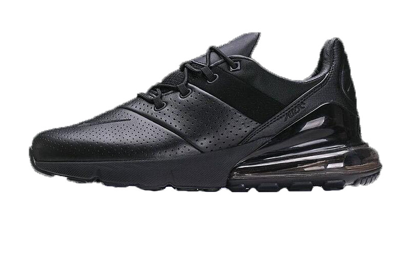 dcba4986 Мужские кроссовки Nike Air Max 270 Premium Leather All Black - FREE CHOICE  - ИНТЕРНЕТ-