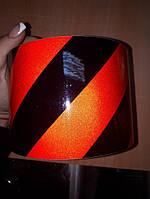 Светоотражающая лента самоклейка 10 см,лента полоска. Габариты.Авто,черно-красная