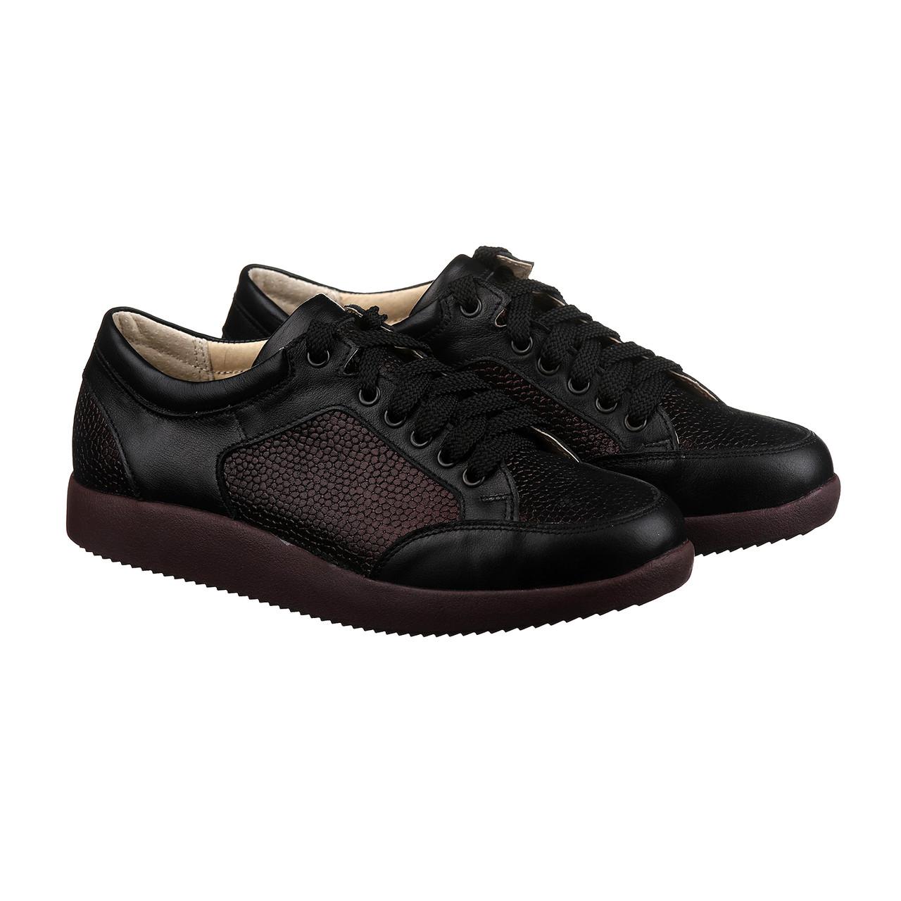 Женские стильные кроссовки черно-бордового цвета размер 37, фото 1
