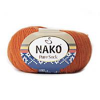 Nako Pure Sock (Нако Пуре Сок) 70% - шерсть супервош, 30% - полиамид 6369