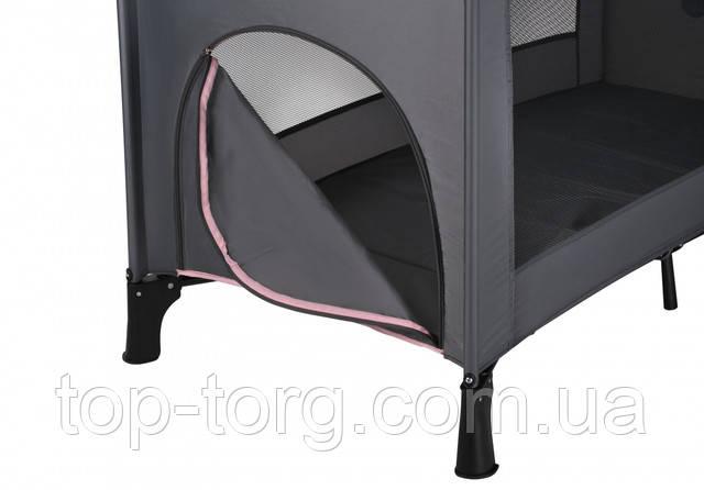 Ліжко-манеж з боковим лозом, який відстібати