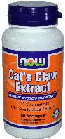 Кошачий Коготь, Now Foods, Cats Claw Extract, 60 caps