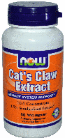 Кошачий Коготь, Now Foods, Cats Claw Extract, 60 caps