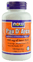Пау де арко, Now Foods, Pau D Arco, 500 mg, 100 Caps