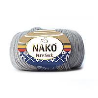 Nako Pure Sock (Нако Пуре Сок) 70% - шерсть супервош, 30% - полиамид 10027