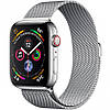 Apple Watch Series 4 GPS + Cellular 44mm Stainless Steel Case with Milanese Loop (MTV42)