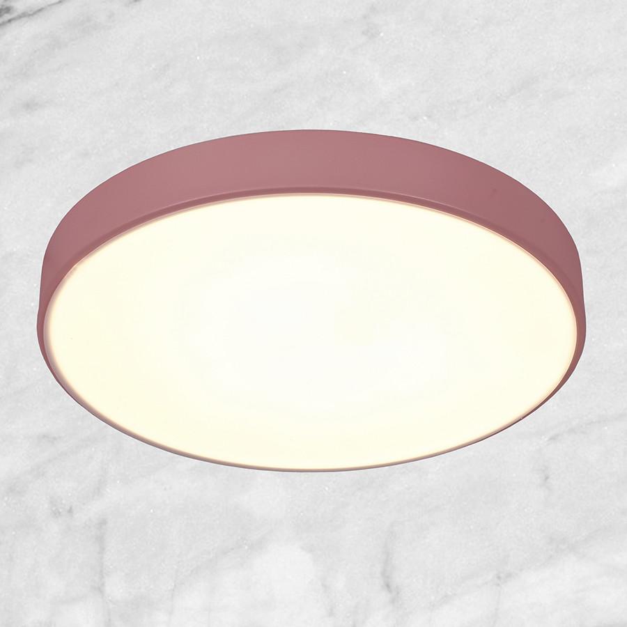 Светодиодная потолочная люстра с пультом (розовая 40см)