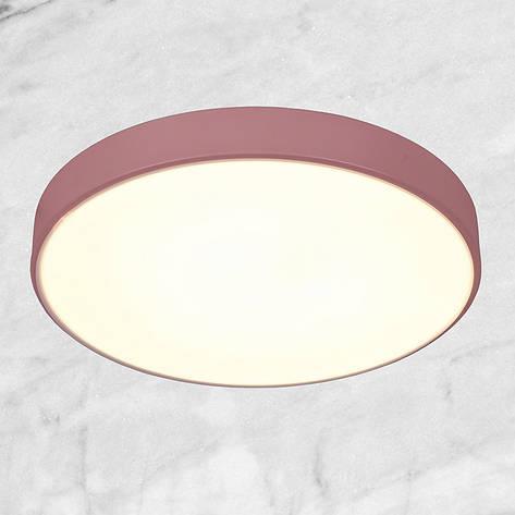 Светодиодная потолочная люстра с пультом (розовая 40см), фото 2